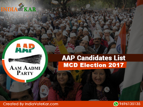 Aap candidates list mcd election 2017