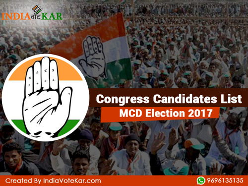 Congress candidates list mcd election 2017