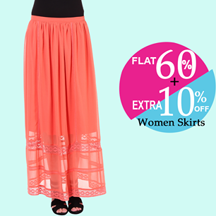 Enjoy flat 60% + extra 10% off on purchase of inr 999 on women bottom wear
