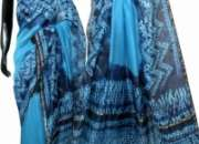 Silk Cotton Tye and Dye Sarees for Rs.2050 online on Trendy Handlooms