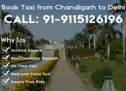 Chandigarh to delhi taxi service at reasonable price