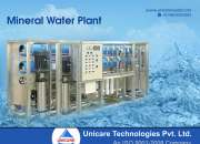 Mineral Water Plant Manufacturer-Company India | Unicare Technology