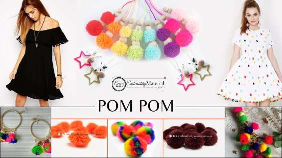 Art and craft small pom poms for sale
