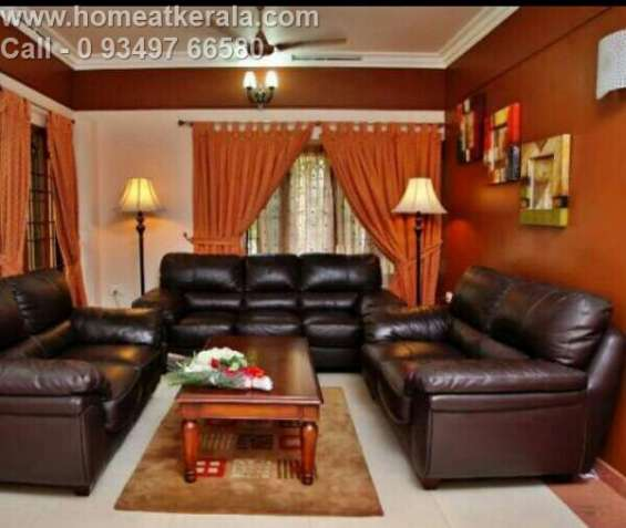 Fully furnished two bhk waterfront apartments at thevara for daily rental.