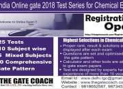 Allindiaonline gate 2018 test series for chemic…