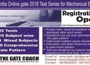 Allindiaonline gate 2018 test series for mechan…