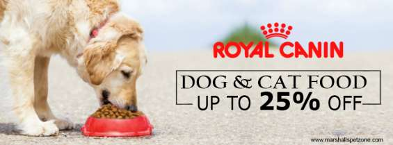 Hello! upto 25%off: royal canin pet food: we got it for you