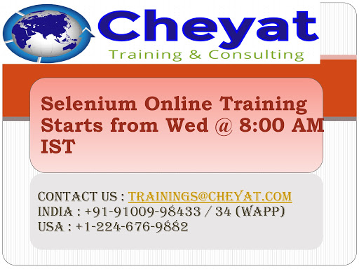 Selenium online training by cheyat tech