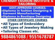 Tailoring Class and Fashion designing education in Chennai