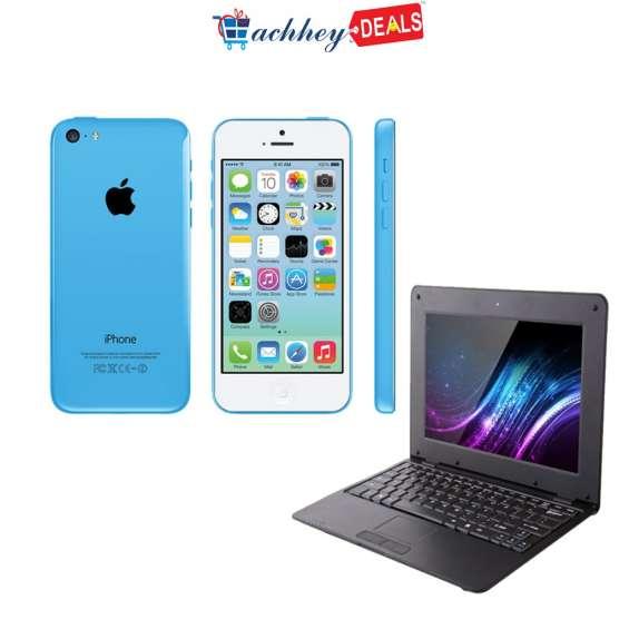 Apple iphone 5c & get android mini laptop