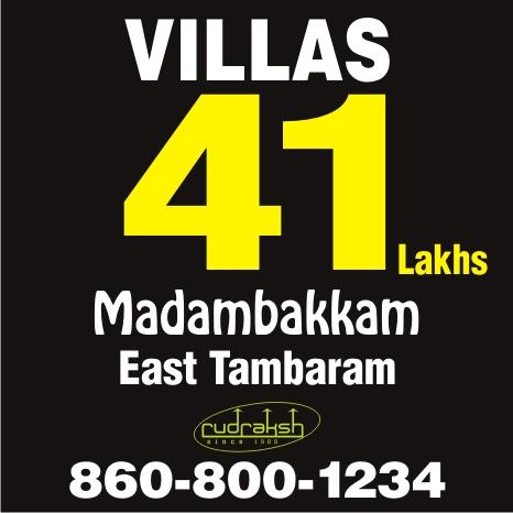 Villas in madambakkam 41lakhs onwards