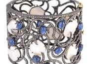 Buy Designer Pearl and Diamond Bangle