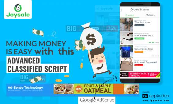 Making money is easy with this advanced classified script