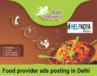 Food provider ads posting in delhi, india