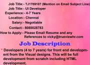 Urgent job opening for UI developer