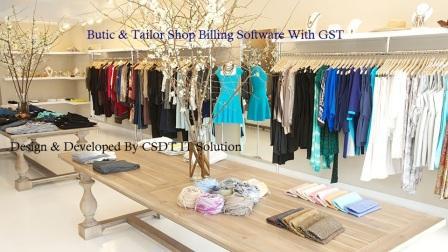 Butic & tailor shop billing inventory software