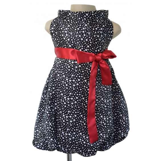 Faye girls designer dresses with polka dots