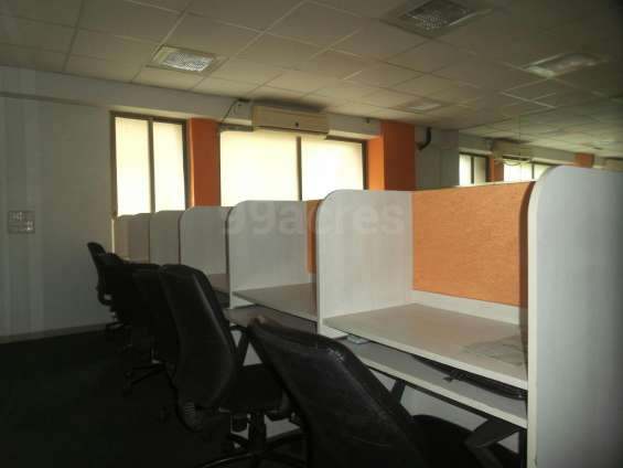 10 workstation fully furnished office space available for rent in ahmedabad satellite 7096