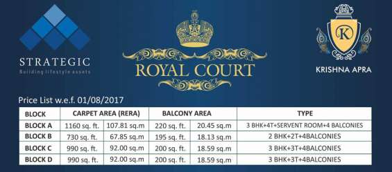 Royal court pricing