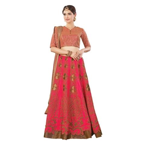 Magenta pink - red color lehenga choli online at shoppyzip