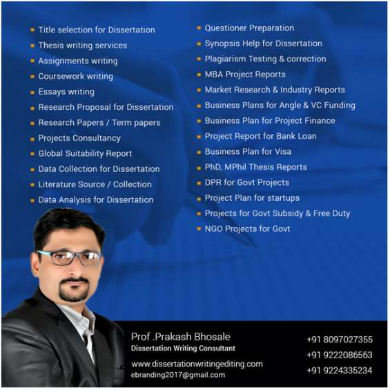 Questionnaire preparation for thesis in mumbai