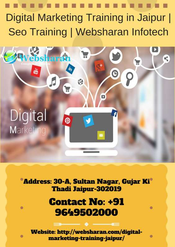 Digital marketing training company in jaipur seo training   websharan infotech.