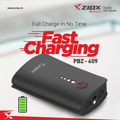 Ziox power bank 6000 mah