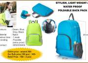 Stylish, lightweight &  waterproof foldable backpack