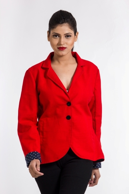 Red coat for women casual wear online at 56% off in shoppyzip