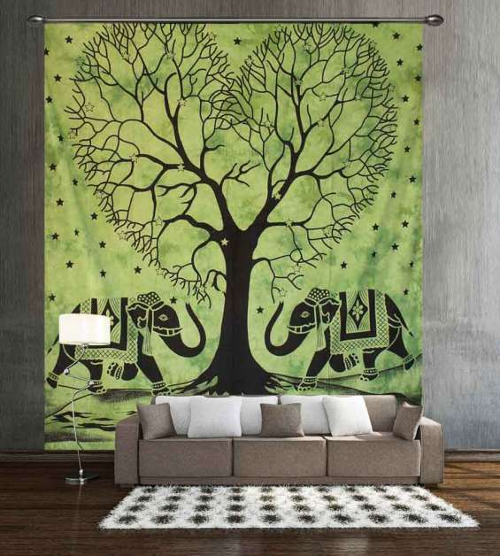 Enthralling elephant wall tapestry from handicrunch