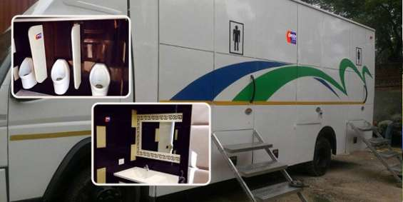 Luxury mobile toilet van