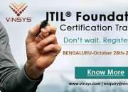 ITIL Foundation Certification Training in Bangalore, Vinsys