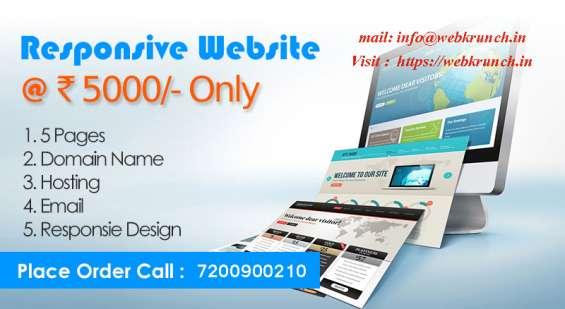 Webkrunch offers a website @ rs. 5000