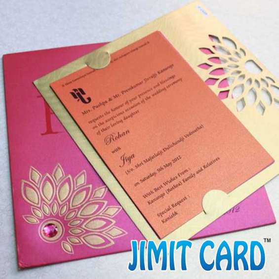 Card invitation for marriage