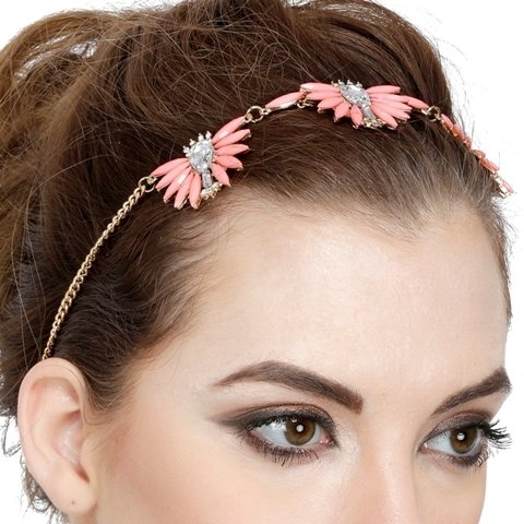 Get sassy looks with this gorgeous pink gemstone headgear in 44% off at shoppyzip