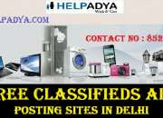 Post free classifieds ads posting sites in delhi