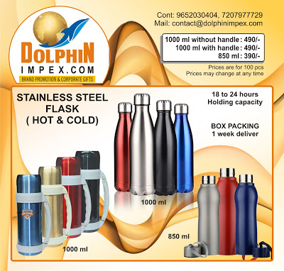 Stainless steel hot & cold flasks