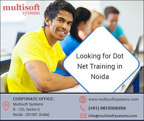 Looking for dot net training in noida