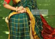 Uppada Designer Checks Pure Silk Sarees for Rs.3600 online on Trendy Handlooms