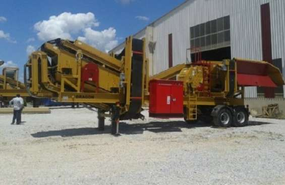 New generation mobile crushing and screening plant closed circuit type dragon 7