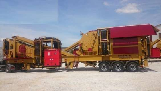 Mobile crushing and screening plant dragon 10