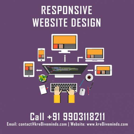 Responsive web desing packages starting at rs7999