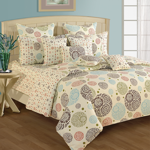 Buy colors of life double bed sheets online with great quality & exciting patterns- swayam