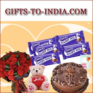 Send valentine's day heart shaped arrangements to india