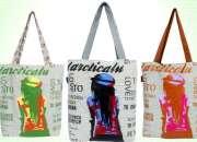 Multicoloured tote bags