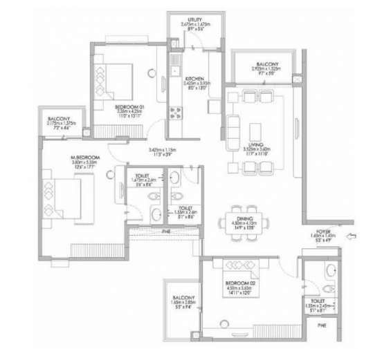 Godrej eternity floor plan