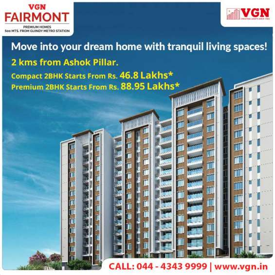 Luxury apartments for sale in guindy