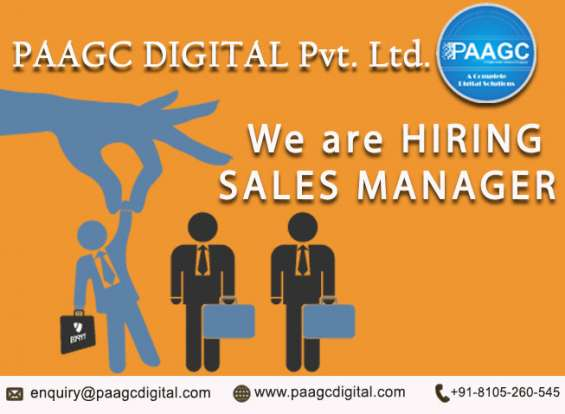 Sales manager in paagc digital pvt ltd