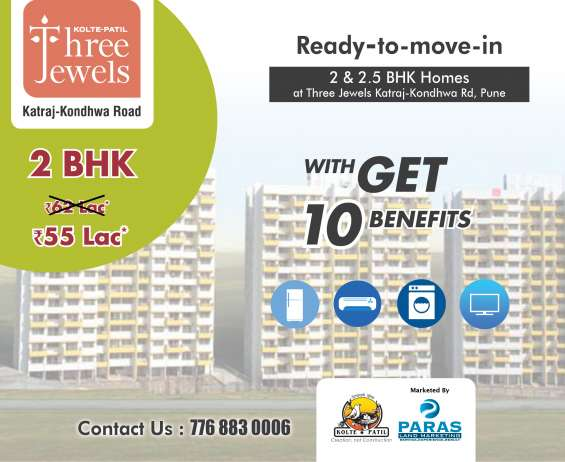 2 bhk flats for sale in three jewels at katraj kondhwa road