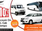 Book/hire luxury bus, taxi, car & tempo traveler